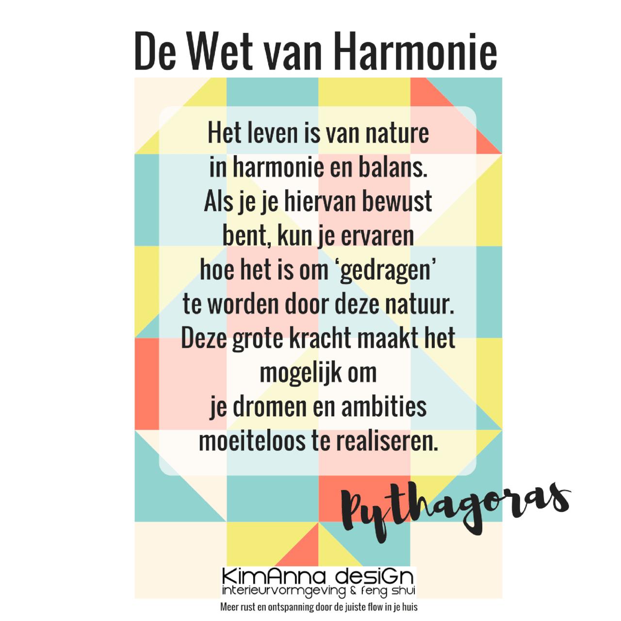 Pytagoras en De Wet van Harmonie, Kim Anna desiGn